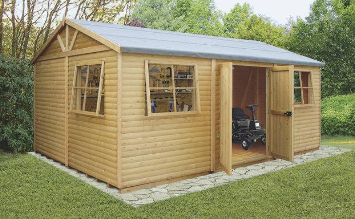 Mammoth Wooden Shed Workshop Contemporary