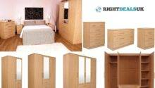 Manhattan Oak Finish Large Modular Bedroom Furniture Range