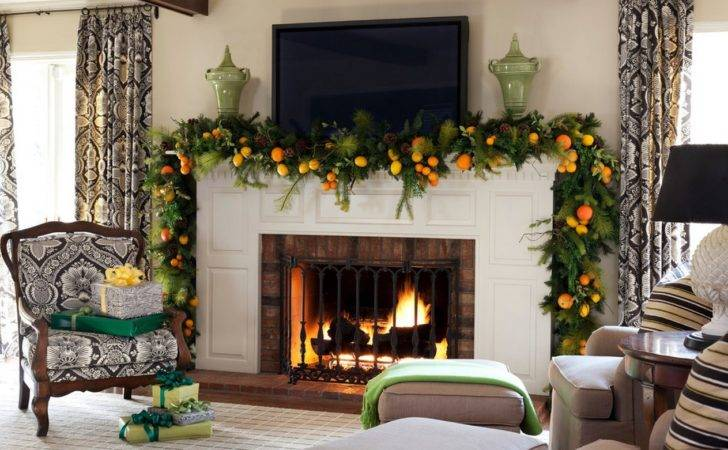 Mantel Christmas Garland Ideas Interior Design