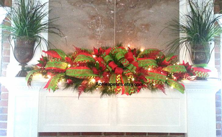 Mantel Garland Swag Christmas Fireplace Mantle