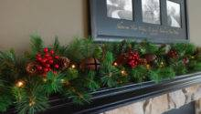 Mantle Garland Mantel Christmas Staircase