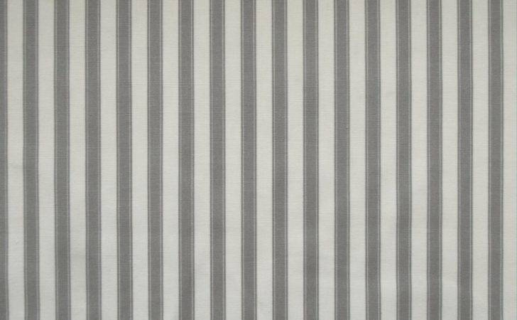 Marson Ticking Stripe Fabric Grey Textile Express Buy