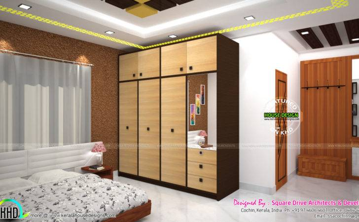 Master Bedroom Living Wardrobe Designs Kerala Home