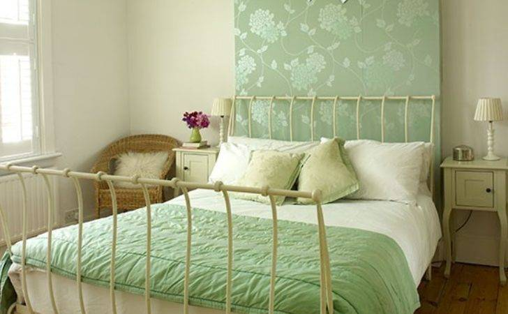 Master Bedroom Pretty Green Feature Wall