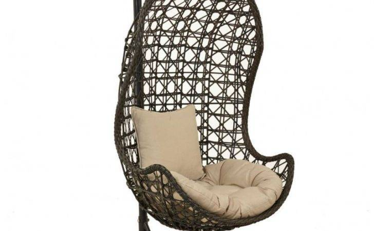 Maze Rattan Hanging Chair Brown
