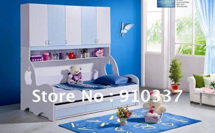 Mdf Panels Kids Bed Twin Bunk Underbed