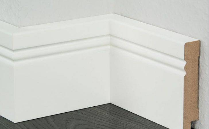 Mdf White Painted Skirting Modern Quality Finished