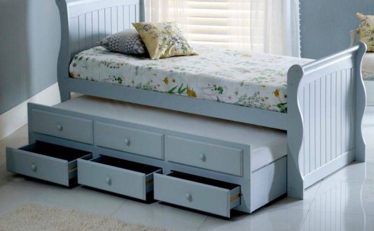 Meadow Grey Wooden Guest Bed