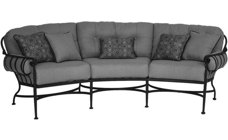 Meadowcraft Athens Wrought Iron Crescent Patio Sofa
