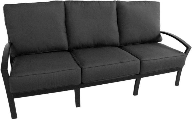 Meadowcraft Maddux Wrought Iron Patio Sofa Ultimate