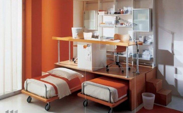 Measured Small Space Room Design Double Movable Bed