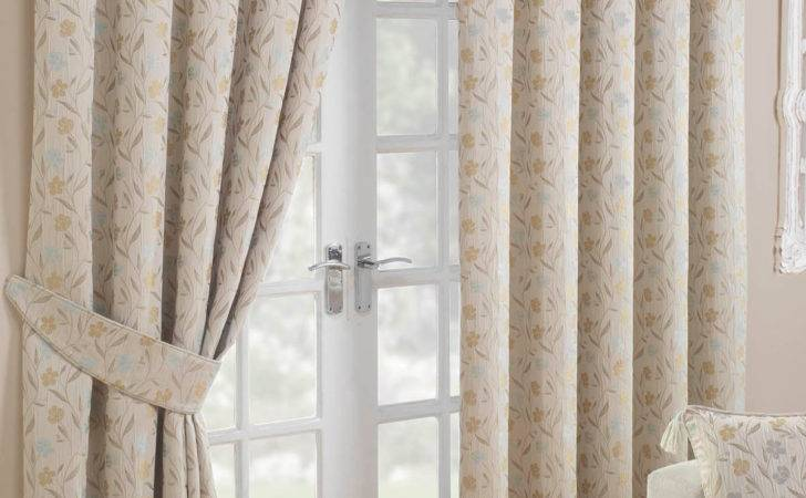 Mia Ready Made Curtains Blue Delivery