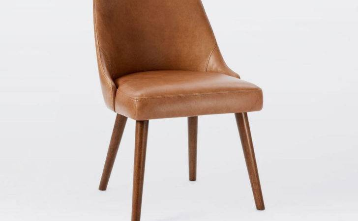 Mid Century Leather Dining Chair West Elm