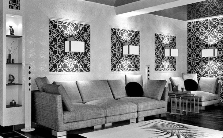 Minimalistic Design Black White Themed Living