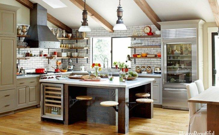 Mix Chic Rustic Industrial Kitchen Napa Valley