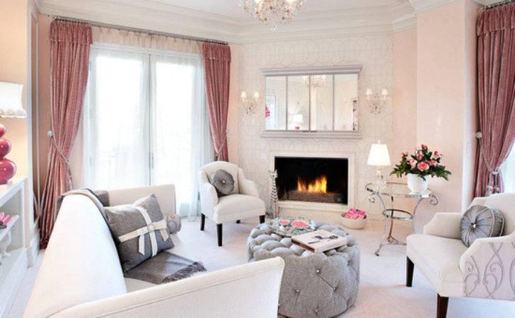 Mix Grey Pink Chic Living Room Decor Part