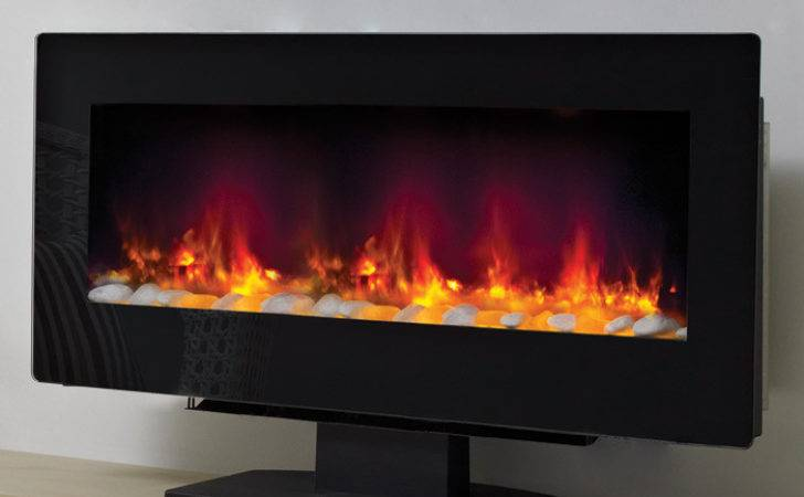 Modern Amari Wall Mounted Standing Electric Fire