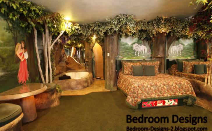 Modern Bedroom Design Takes Forest Style