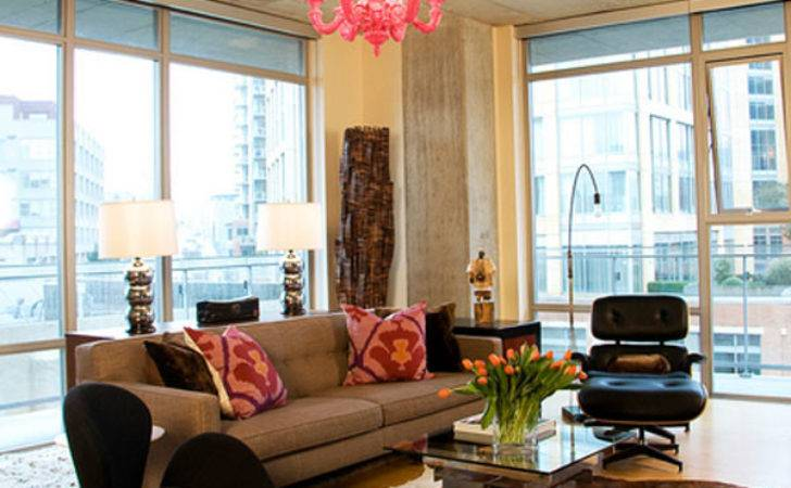 Modern Classic Living Room Pops Pink Inmod Style