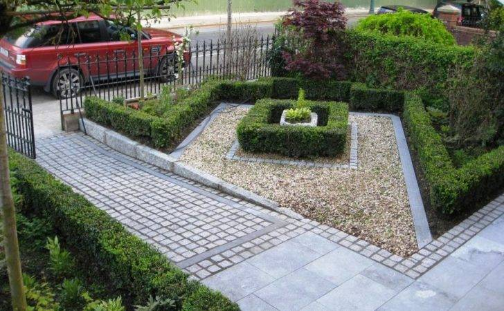 Modern Front Yard Landscaping House Design Stone