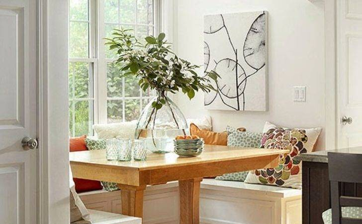 Modern Furniture Comfort Breakfast Nook Decorating Ideas