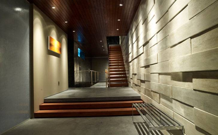 Modern Hallway Floating Open Staircase