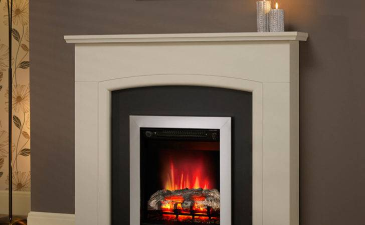 Modern Hayden Electric Fireplace Suite Fireplaces