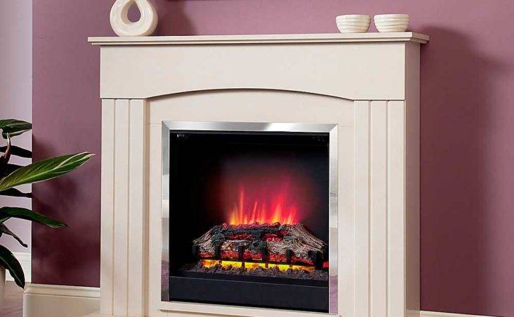 Modern Linmere Almond Electric Fire Suite Living Room