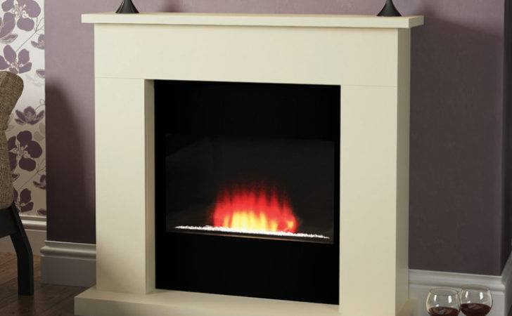 Modern Lucca Electric Fireplace Suite Fireplaces