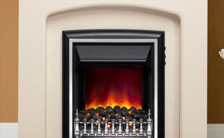 Modern Lusso Eco Electric Fireplace Suite Flames