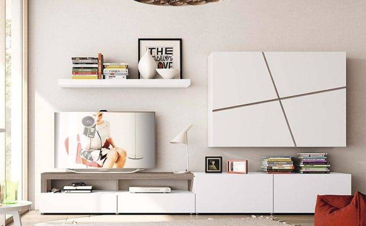 Modern Natural Wall Cabinet Shelving Unit Composition