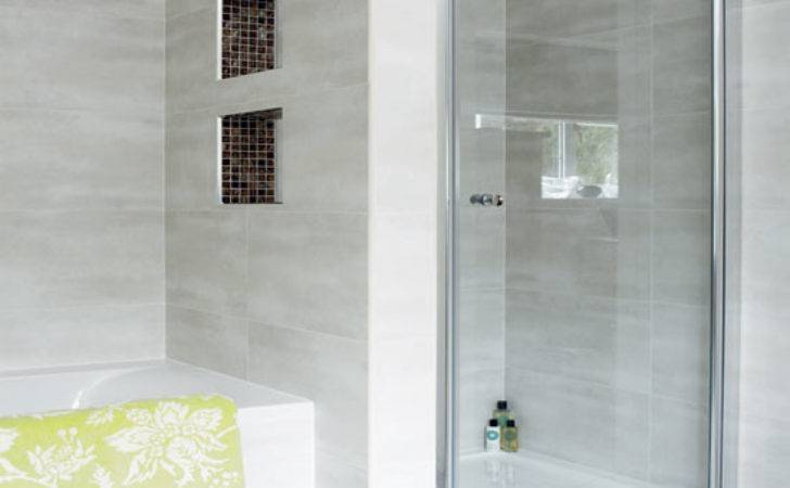 Modern Pale Grey Bathroom Design