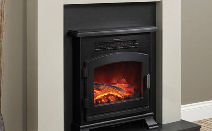 Modern Ravensdale Electric Fireplace Suite Flames