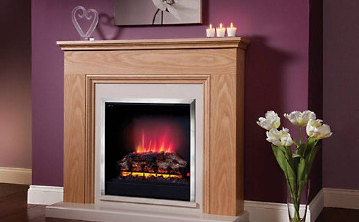 Modern Stanton Electric Fire Suite Wickes