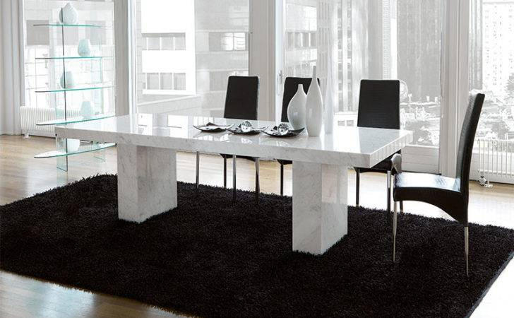 Modern Unico Quasar Marble Coated Dining Table Choice