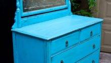 Modernly Shabby Chic Furniture Electric Blue Dresser