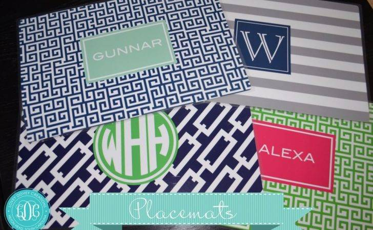 Monogrammed Placemat Personalized Placemats Custom Laminated