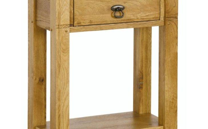 Monza Solid Oak Furniture Small Hallway Console Hall Table