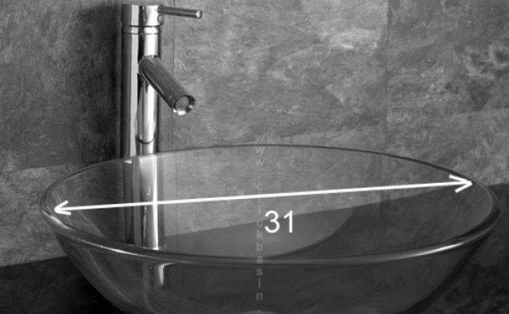 Monza Surface Mounted Round Clear Glass Basin Clickbasin