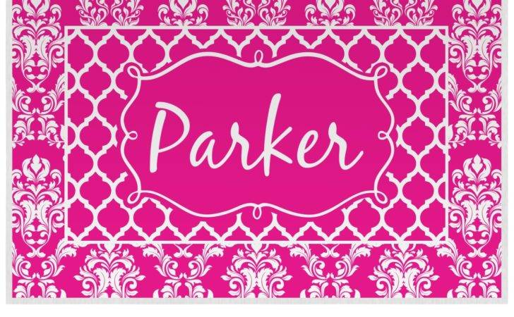 Moroccan Damask Placemat Laminated Personalized