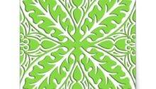 Moroccan Tiles Lime Green White Square Sticker