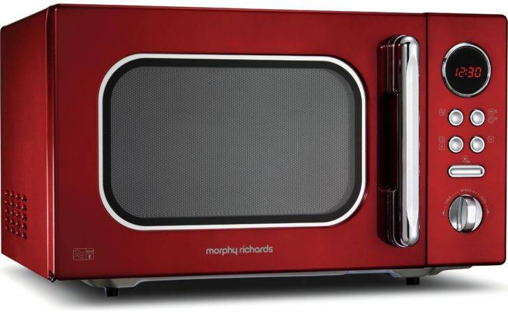Morphy Richards Standard Microwave Red