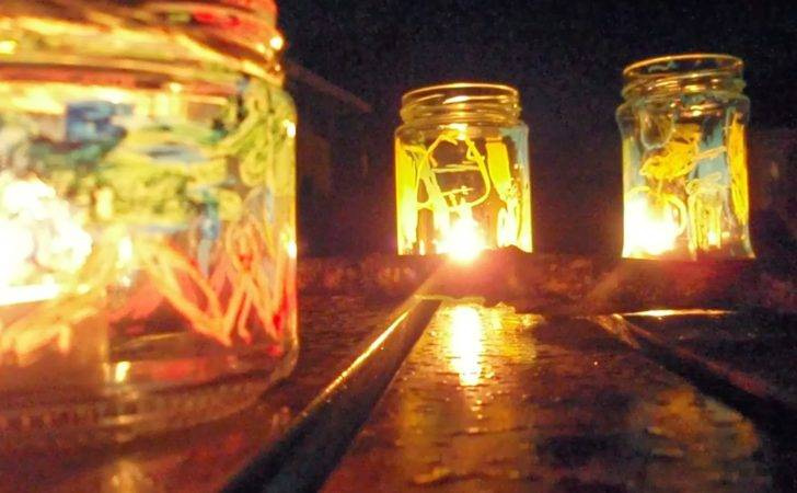 Mothers Madness Jam Jar Lanterns