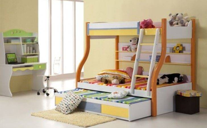 Multi Functional Beds Small Kids Bedroom Interior