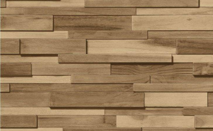 Muriva Thin Wood Blocks Effect
