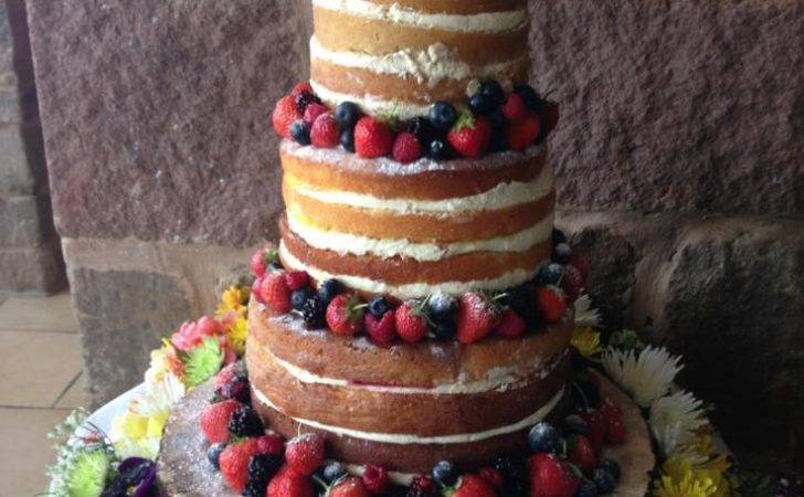 Naked Wedding Cake Great British Bake Off