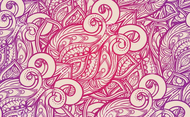 Natural Abstract Pattern Vector Contour