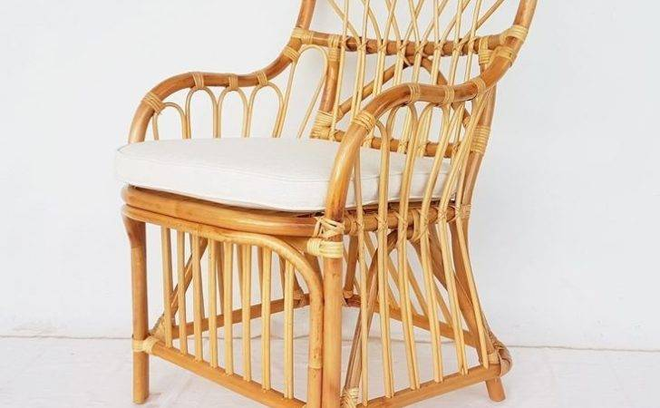 Natural Coloured Rattan Chair Allissias Attic Vintage