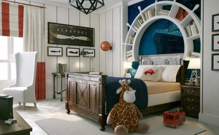 Nautical Decor Ideas Kids Room Decorating Ship Wheels