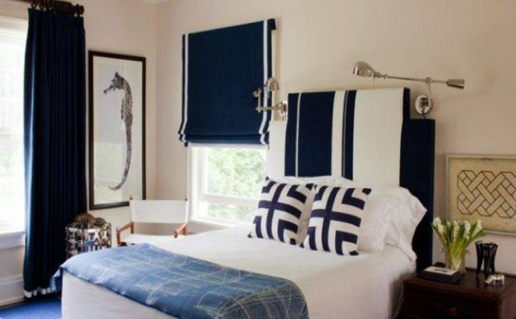 Navy Walls Bedroom Blue Decorating Ideas